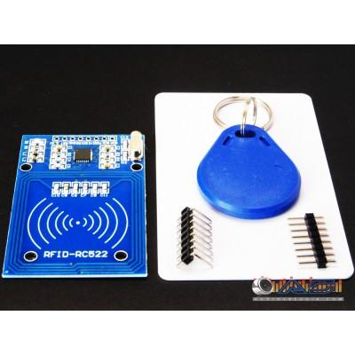 Lettore RFID RC522 + Scheda + Portachiavi per Arduino e altri controllori