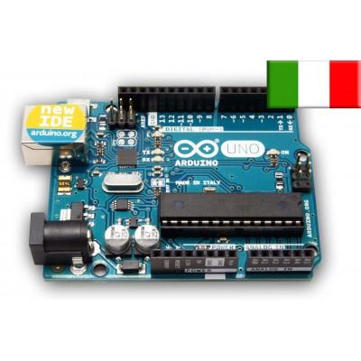 Scheda Arduino UNO R3 Originale made in Italy. Esperimenti elettronica.