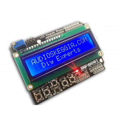 Shield per Arduino Uno Display 16x2 Tastiera Keypad