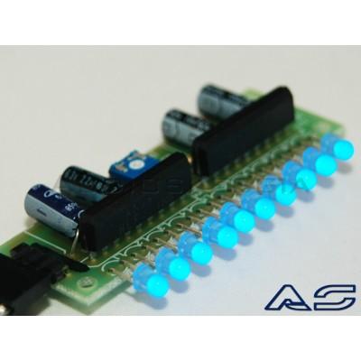 Scheda Vu Meter LED BLU assemblata.