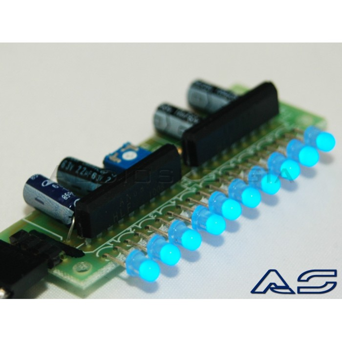 Scheda Vu Meter a LED assemblata.