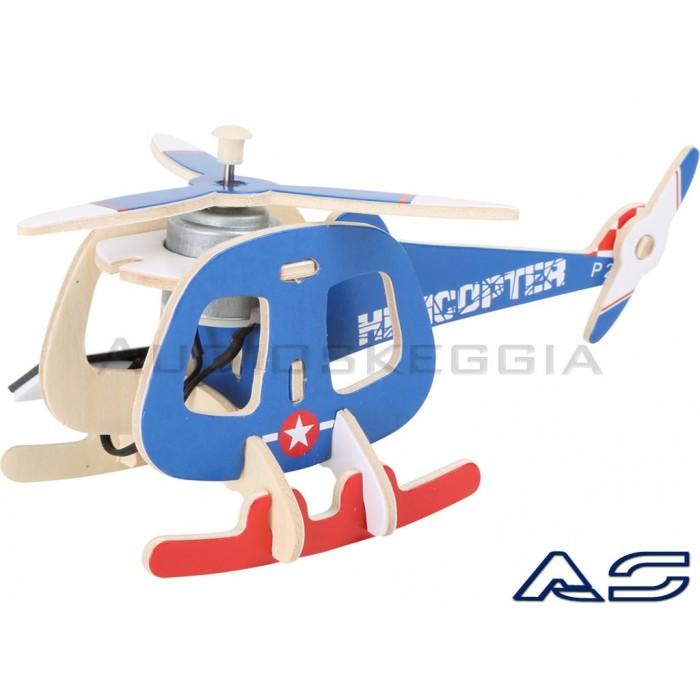 Elicottero Solare in legno da montare.