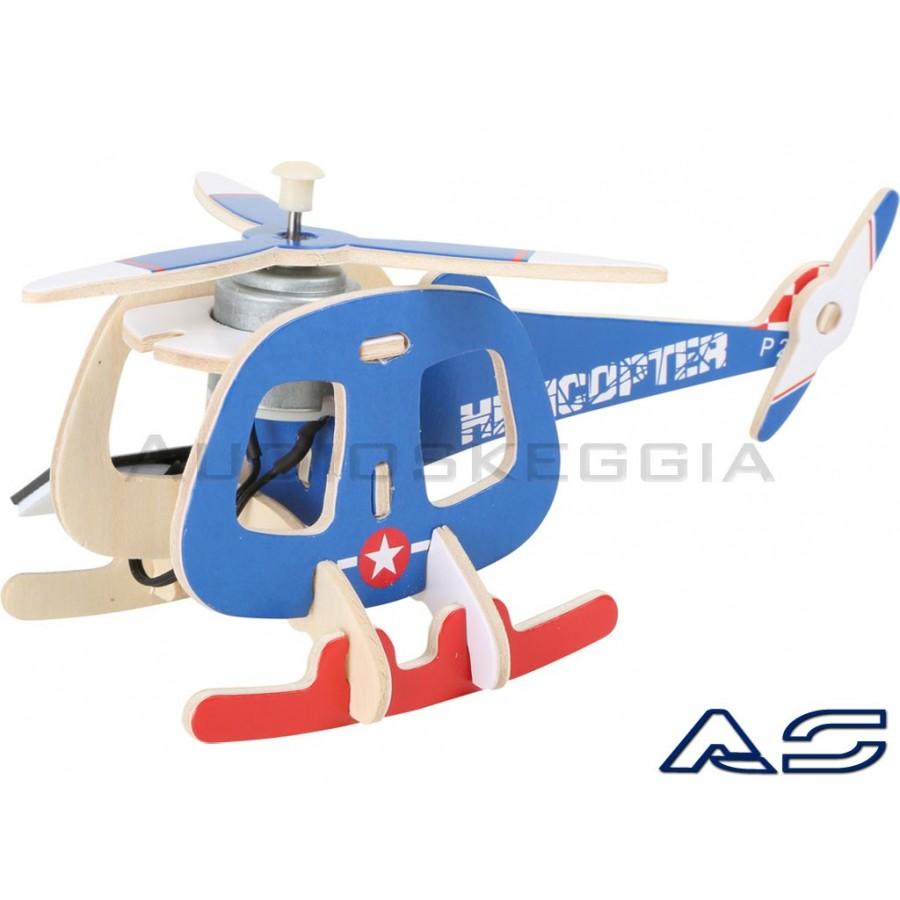Elicottero 205 : Elicottero solare in legno da montare audioskeggia