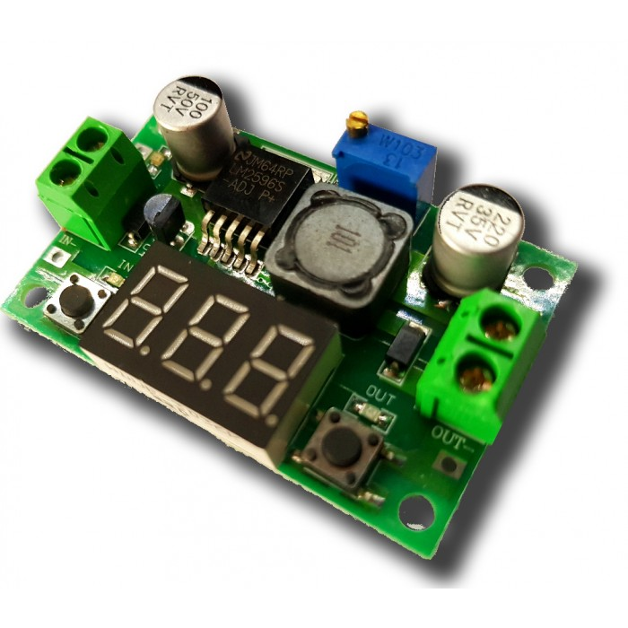 Alimentatore 2,7-37V Step Down LM2596 2 Ampere con display