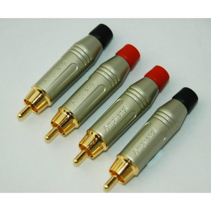 Serie N.4 connettori AMPHENOL Professionali RCA maschi