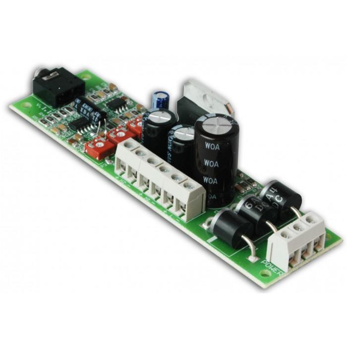 Amplificatore Stereo + Subwoofer 13+13+30 Watt 24 Vdc