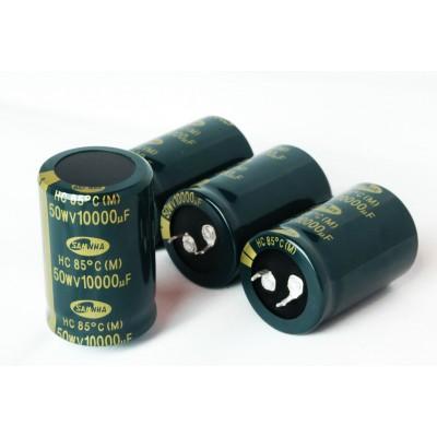 N.4 Condensatori Elettrolitici 50V 10.000 uF Snap-in