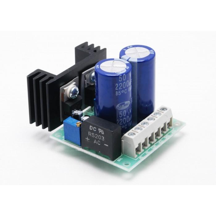 Alimentatore Duale Stabilizzato regolabile 1.2/35 Vdc 1 Ampere Lineare No Switching