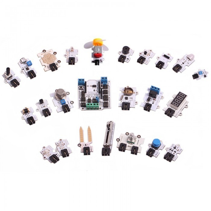 Sensor Shield + 23 Sensori SuperKit per Arduino Uno