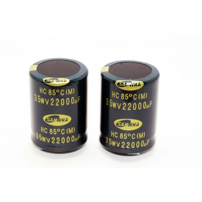 N.4 Condensatori Elettrolitici 35V 22.000 uF Snap-in.